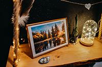 Obraz Dolný Michalštôlniansky tajch 20x30cm 20€
